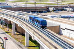 Above ground terminal connecting tram at IAH airport Royalty Free Stock Images