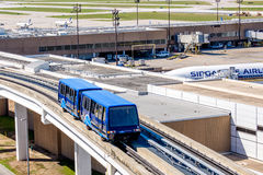 Above ground terminal connecting tram at IAH airport Stock Photos