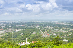 Above Hatyai city from view point cable car Royalty Free Stock Photo