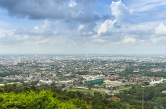 Above Hatyai city from view point cable car Royalty Free Stock Images