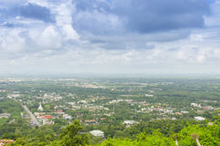 Above Hatyai city from view point cable car Royalty Free Stock Photography