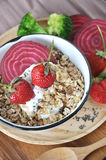 Above of Healthy Muesli Bowl Royalty Free Stock Images