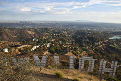 Above the Hollywood Sign Royalty Free Stock Photography