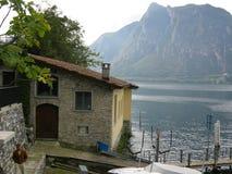 Above house Caprino Lugano royalty free stock image
