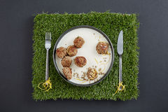 An above image of a portion of meatballs Royalty Free Stock Photos