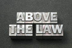 Above the law bm Stock Image