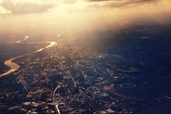 Above London Royalty Free Stock Photo