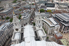 Above London with St Paul's Cathedral, UK Royalty Free Stock Images
