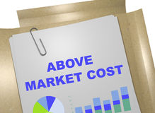 Above Market Cost concept Royalty Free Stock Photo