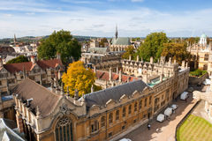 Above Oxford. England. Oxford viewed from St Mary the Virgin Church. England Royalty Free Stock Photos