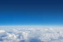 Above The Puffy Clouds Royalty Free Stock Images