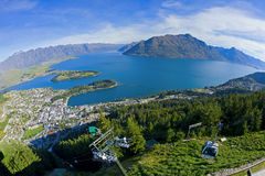 Above Queenstown Stock Photography