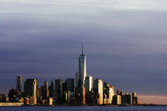 Above the Rest. The Freedom tower standing high above New York City Stock Photos