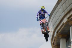Above the roof of a motorcycle Royalty Free Stock Photography