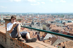 Above the roofs of Graz Stock Photos