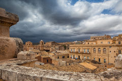 Above the rooftops in Noto Royalty Free Stock Photo