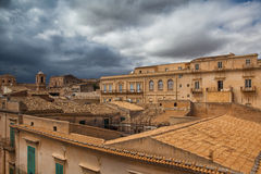 Above the rooftops in Noto Stock Images