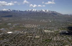 Above Salt Lake City Stock Photo