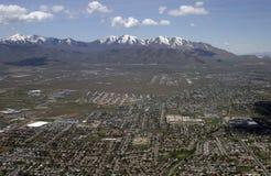 Above Salt Lake City Stock Photo
