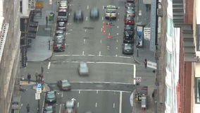 Above San Francisco Intersection. Above City Traffic,  San Francisco stock video footage
