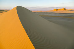 Above Sand Dune. Sand dune at sunset in the desert of Fayoum, Egypt Stock Images