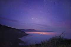 Above a sea of clouds Stock Photography