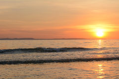 above sea sunset Στοκ εικόνες με δικαίωμα ελεύθερης χρήσης