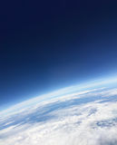 From above the sky.The planet earth horizon.Part of world's surface. Stock Photo