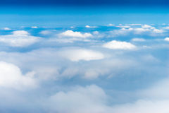 Above the sky, view from airplane, Horizontal Shot. Above the sky, view from an airplane, Horizontal Shot Stock Photography