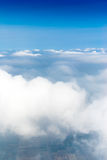 Above the sky, view from airplane, Vertical Shot. Above the sky, view from an airplane, Vertical Shot Royalty Free Stock Photo