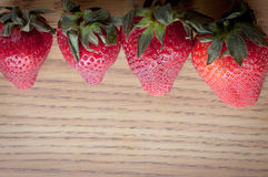 Above Strawberries Royalty Free Stock Image
