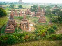 Above the temples of burma royalty free stock photography