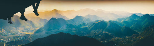 Free Above The Mountain Valley. Instagram Stylisation Stock Photography - 92939772