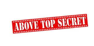 Above top secret. Rubber stamp with text above top secret inside,  illustration Stock Photography