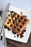 Above of Two Tone Waffle Royalty Free Stock Photography