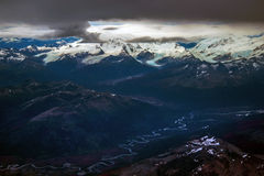 Above Ushuaia. A shot above Ushuaia, the Southernmost city of the world. Argentina stock image