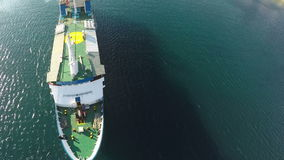 Above Vessel stock video footage