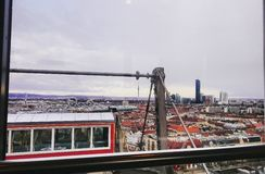 Above Vienna. Picture from the Top of the ferriswheel at prater in Vienna, Austria Royalty Free Stock Photo