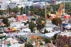Above view of amusement park Prater in Vienna Royalty Free Stock Image