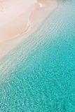 Above view at anguilla beach. Above view at picture perfect caribbean beach at anguilla island Royalty Free Stock Images