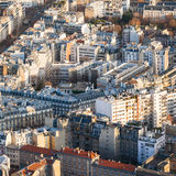 Above view of apartment houses in Paris city Stock Photography