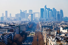 Above view of la Defense in Paris Royalty Free Stock Image