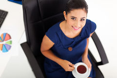 Businesswoman having tea Stock Photography