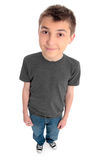 Above view of a boy preteen Stock Photography