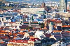 Above view of Bratislava old town, Slovakia Royalty Free Stock Photo