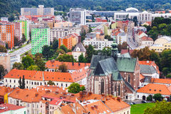 Above view of Brno city with Augustinian Abbey Royalty Free Stock Images