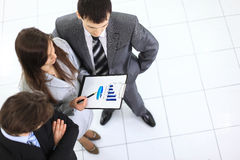 Above view of business partners Stock Images