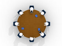 Above view of business team Royalty Free Stock Photos
