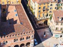 Above view of casa dei mercanti in Verona city Royalty Free Stock Photos