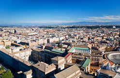 Above view on center of Rome city, Stock Images